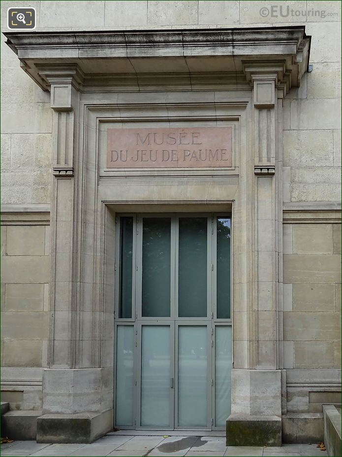 North Side Doorway On Jeu De Paume Building