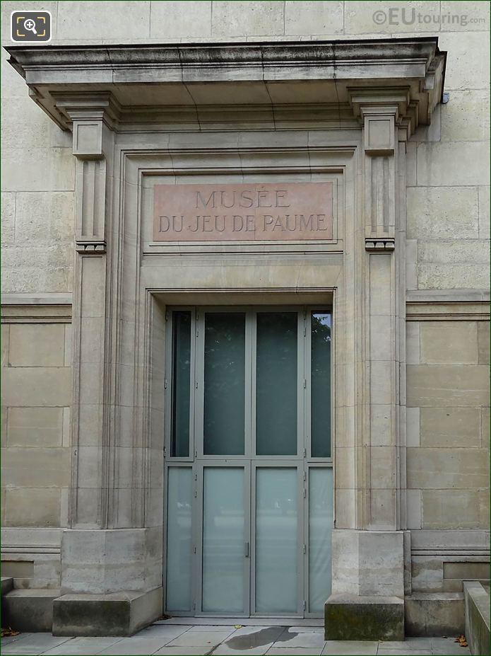 North Side Doorway On Jeu De Paume Building