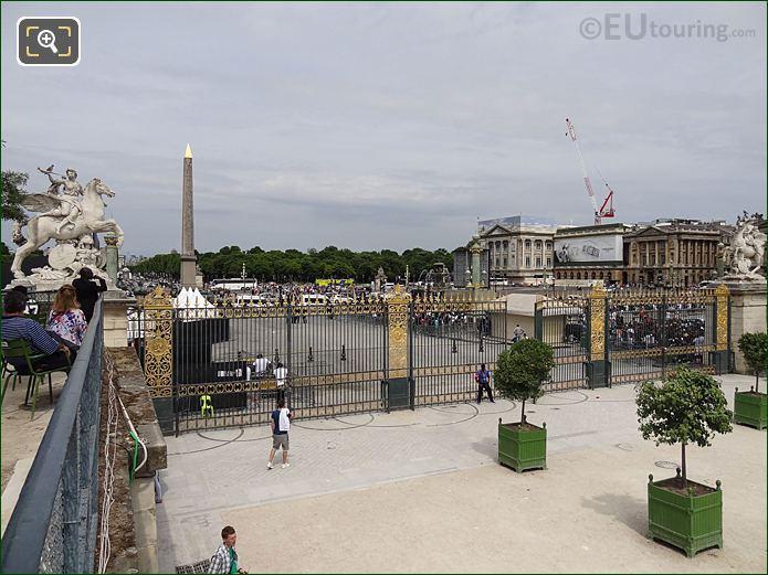 Terrasse De l'Orangerie View In Jardin Des Tuileries Looking North West