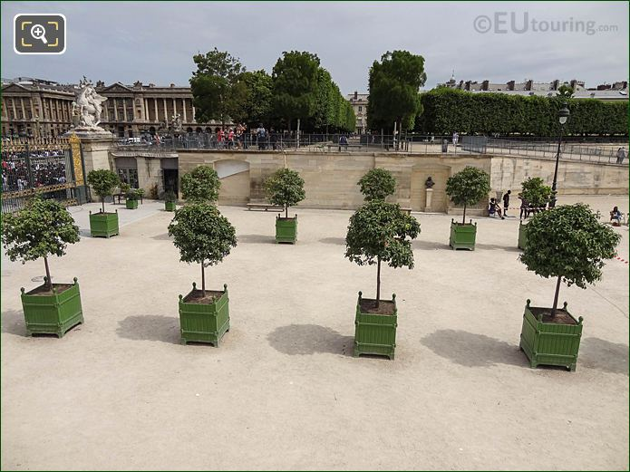 Fer A Cheval Inside Jardin Des Tuileries Looking North, North East