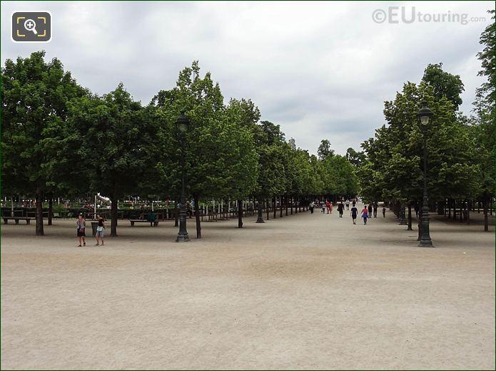 Allee De Castiglione Pathway In Jardin Des Tuileries Looking South