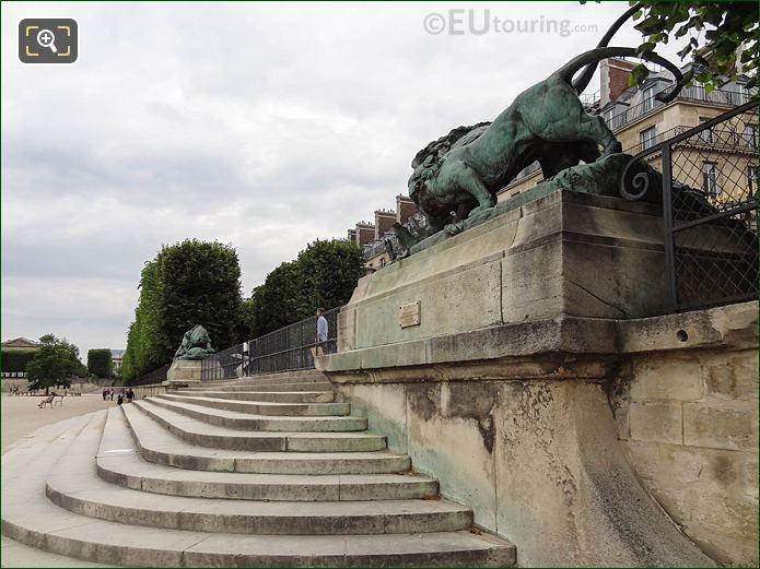 Esplanade Des Feuillants Jardin Des Tuileries Looking NNW