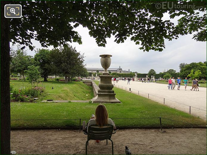 Petit Reserve Nord Jardin Des Tuileries Looking SW