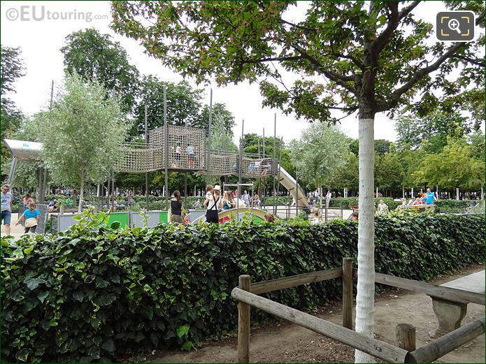 Jardin Des Tuileries Childrens Playground Ivy Fence