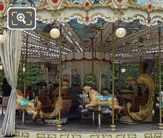 Merry-go-round In Grand Couvert Area Tuileries Gardens
