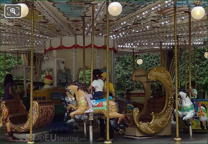 Wooden Horses On Merry-go-round Jardin Des Tuileries