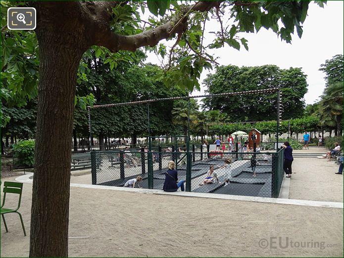 Trampolines Jardin Des Tuileries Looking West