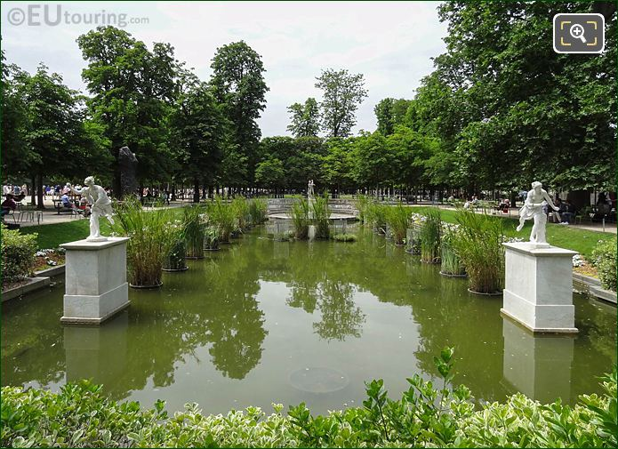 Exedre Nord Pond Water Feature Jardin Des Tuileries
