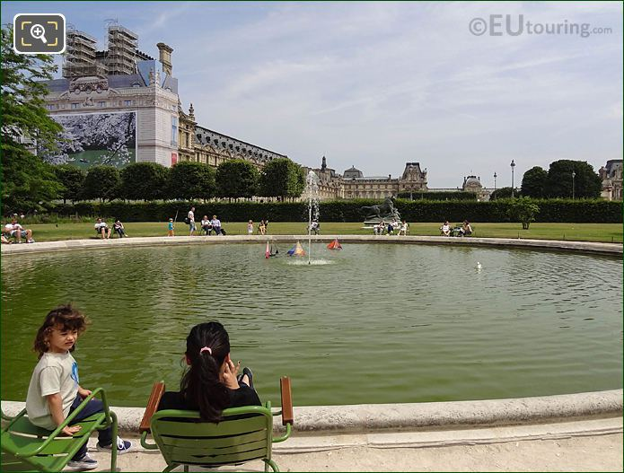 Model Sailing Boat Pond Inside Jardin Des Tuileries