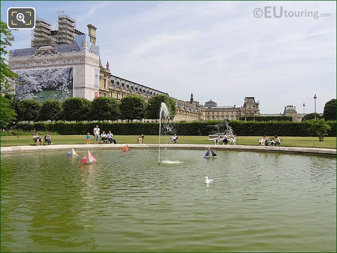 Jardin Des Tuileries NE Model Sailing Boat Pond