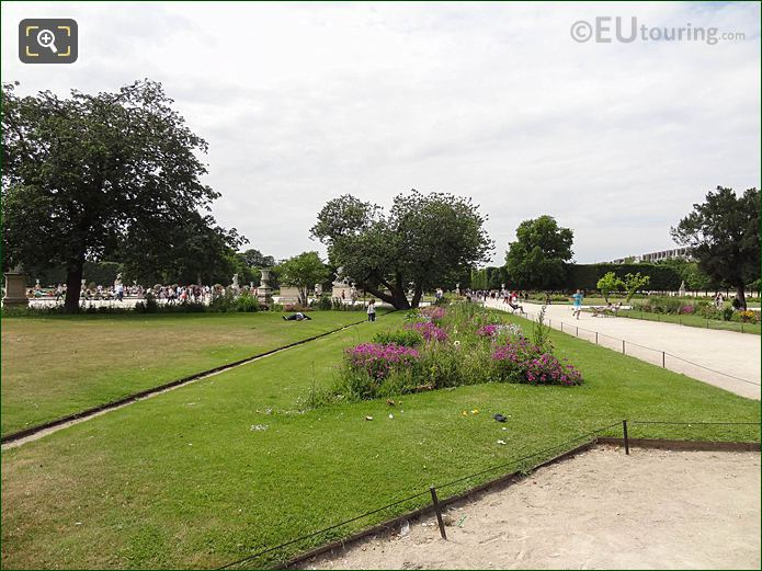 Demi-lune Reserve Nord Jardin Des Tuileries Looking NW