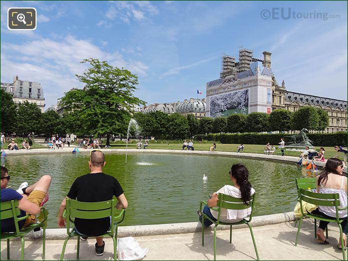 Vivier Nord Jardin Des Tuileries Looking NE