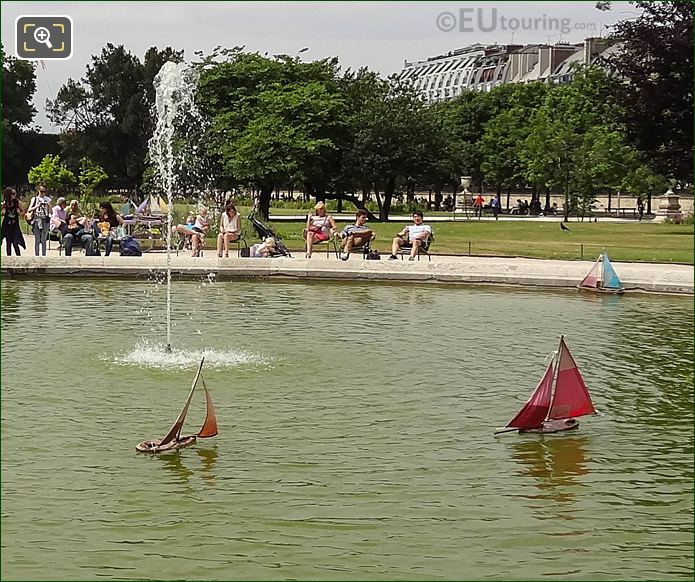 Model Sailing Boats On Pond In Jardin Des Tuileries