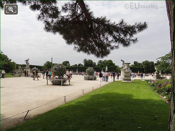 Allee Centrale Jardin Des Tuileries Looking SW