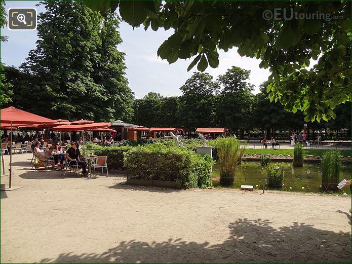 Exedra Sud Pond Jardin Des Tuileries Looking SE