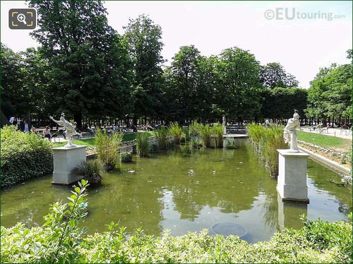 Exedre Sud Water Feature And Statues Jardin Des Tuileries