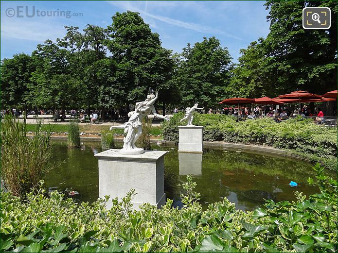 Exedre Sud Pond And Statues In Jardin Des Tuileries Looking North