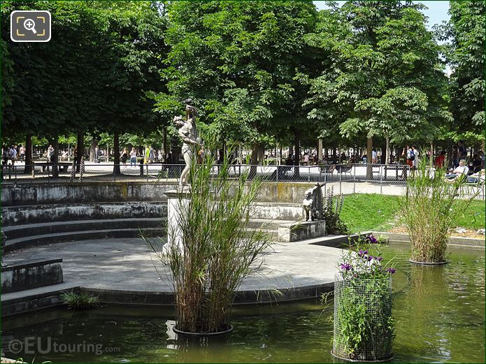 Exedre Sud And Venus Callipyge Statue In Jardin Des Tuileries Looking North, North West