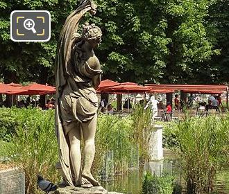 Jardin Tuileries Exedre Sud With Statue