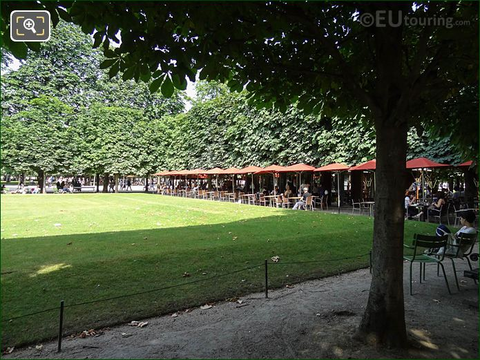 Salle Verte Sud-Ouest Garden In Jardin Des Tuileries Looking North, North East