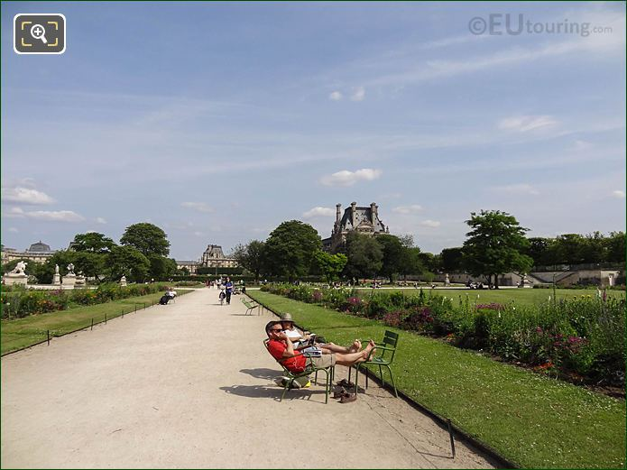 Allee Sous Couvert Sud In Jardin Des Tuileries Looking South Easterly