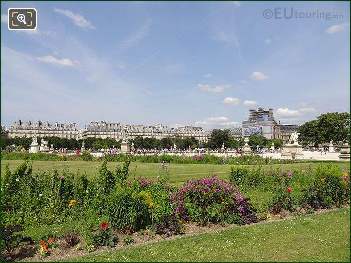 Demi-lune Carre De Fer Sud Jardin Des Tuileries Looking NE