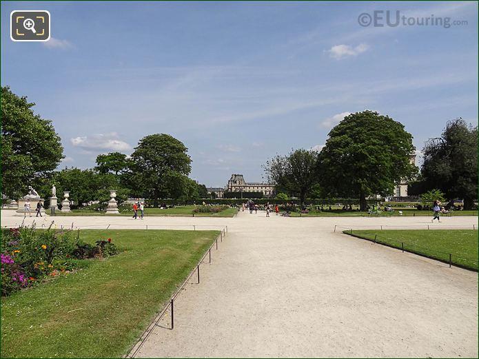 Allee Sous Couvert Sud Jardin Des Tuileries Looking SE