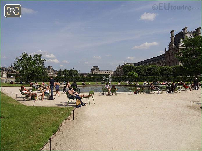 Vivier Sud Pond In Jardin Des Tuileries Looking South Easterly