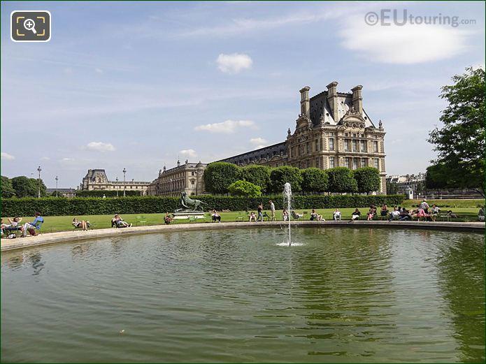 Vivier Sud Pond In Jardin Des Tuileries Looking South, South East