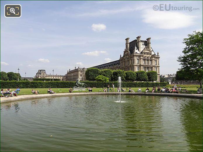 Jardin Tuileries Water Fountain In Vivier Sud