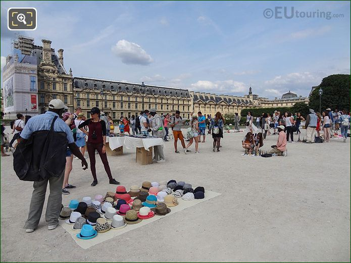 East View From Eastern Entrance Jardin Des Tuileries