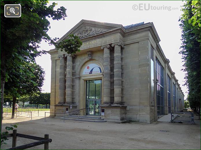 Musee De l'Orangerie Entrance Jardin Tuileries Looking East