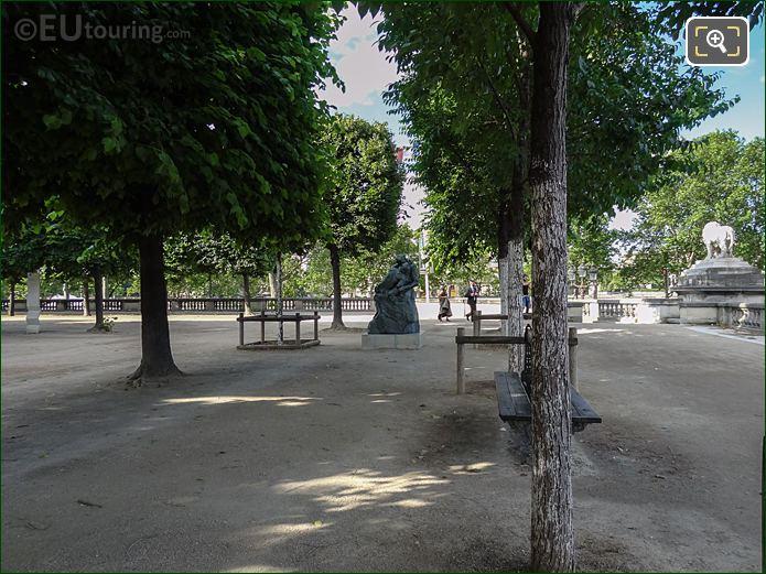 Terrasse De l'Orangerie In Jardin Des Tuileries Looking South, South West