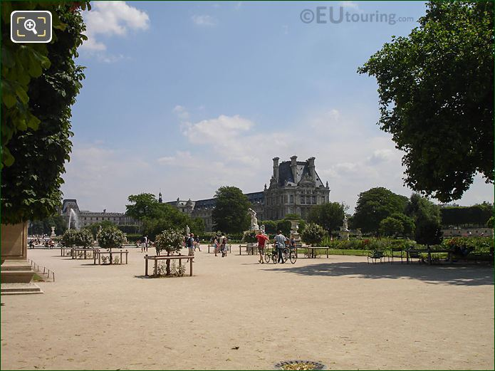 Allee Centrale Grand Carre Jardin Tuileries Looking SE