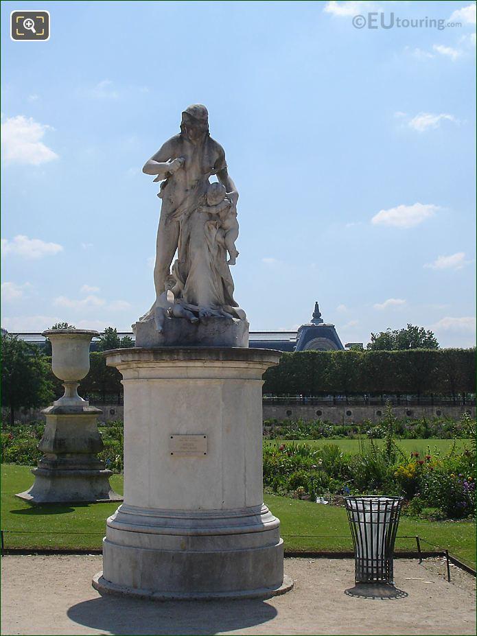 Demi-lune Carre De Fer Sud Area Jardin Tuileries Looking South
