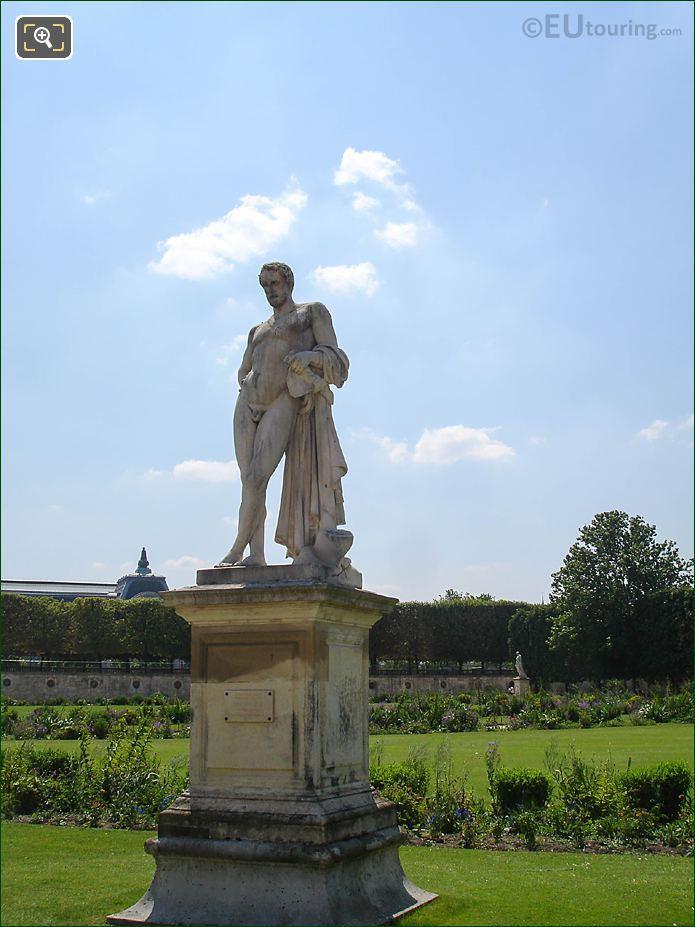 Demi-lune Carre De Fer Sud Jardin Tuileries Looking South