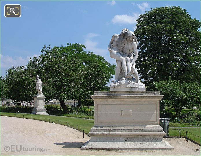 SE View The Good Samaritan Grand Carre Jardin Tuileries