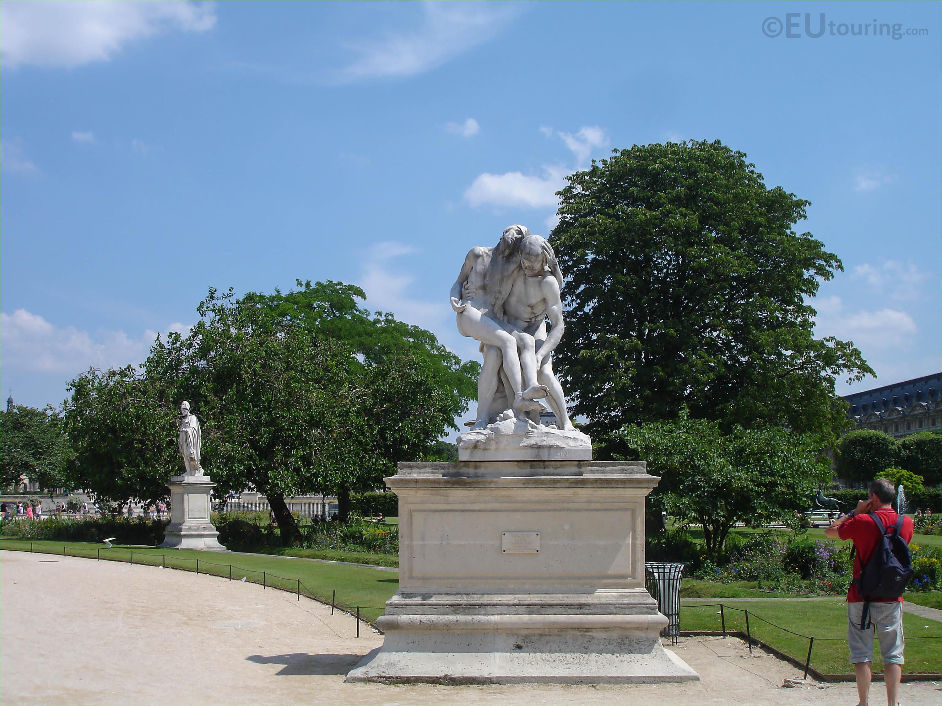 Map Of Attractions And Photos Inside Tuileries Gardens In Paris