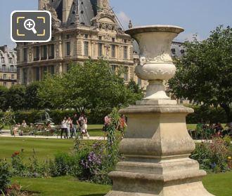 Tuileries Gardens Historical Stone Vase