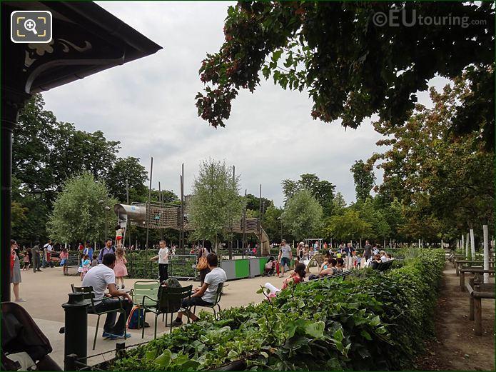 Childrens Playground Grand Couvert Area Jardin Des Tuileries