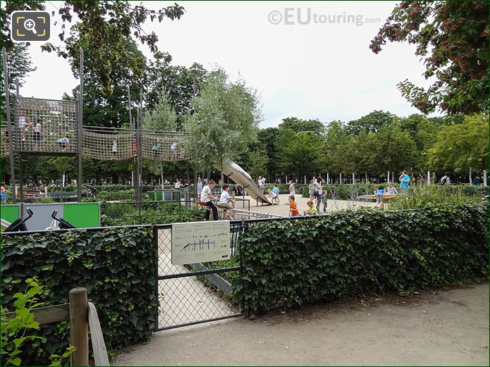 Gated Entrance Childrens Playground Jardin Des Tuileries