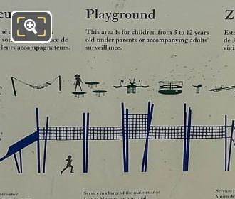 Info Board Apparatuses In Childrens Playground