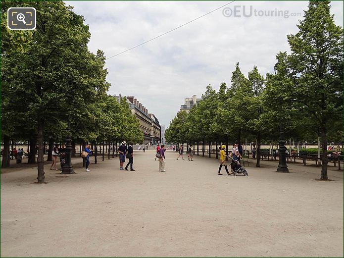 Allee De Castiglione Jardin Des Tuileries Looking NE