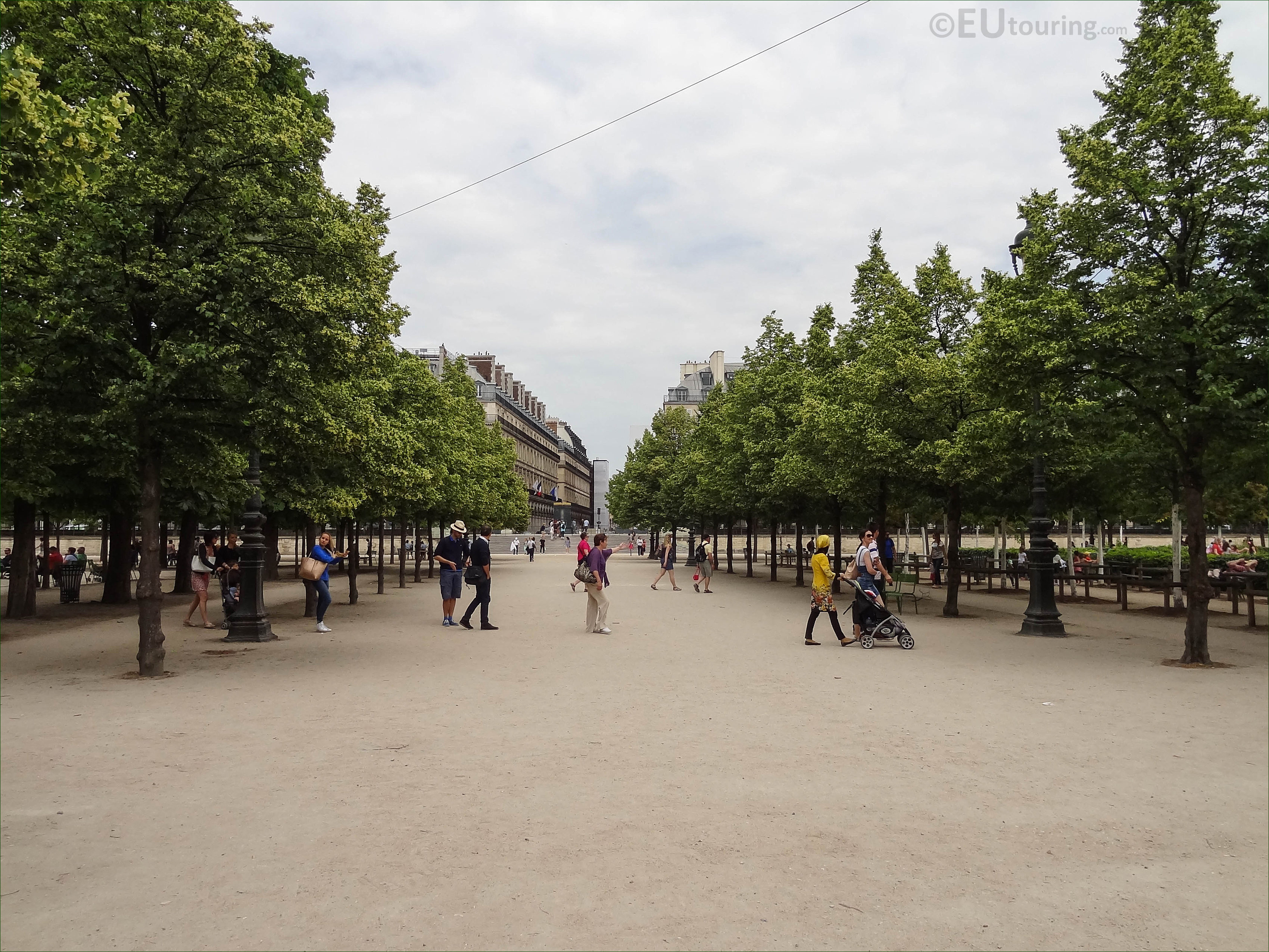 allee de castiglione in jardin des tuileries looking ne. Black Bedroom Furniture Sets. Home Design Ideas