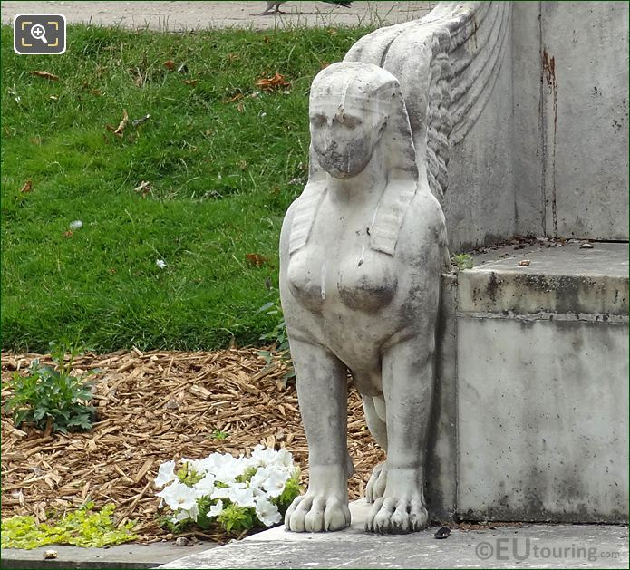 Sphinx Statue On Edge Of Exedra