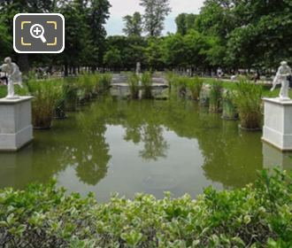 Pond With Statues Grand Couvert Of Tuileries