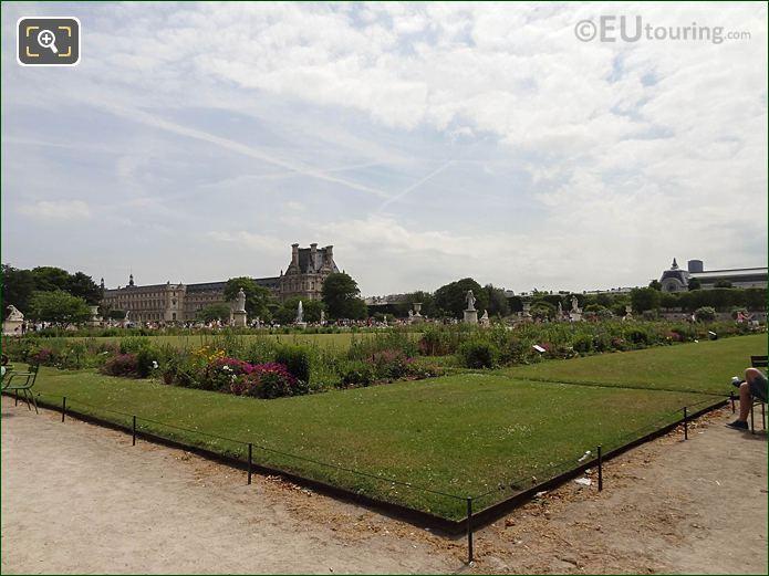 Demi-lune Carre De Fer Nord Jardin Des Tuileries Looking SE