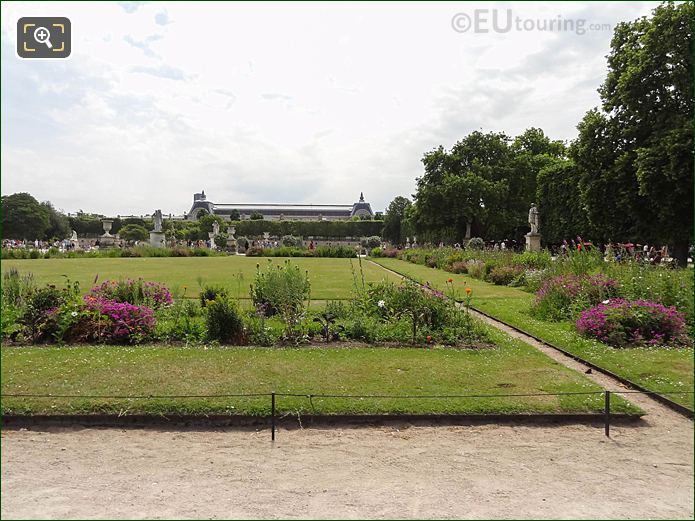 Demi-lune Carre De Fer Nord Jardin Tuileries Looking SSW