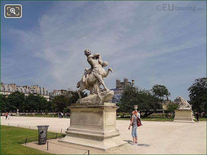 Grand Carre In Jardin Des Tuileries Looking NE