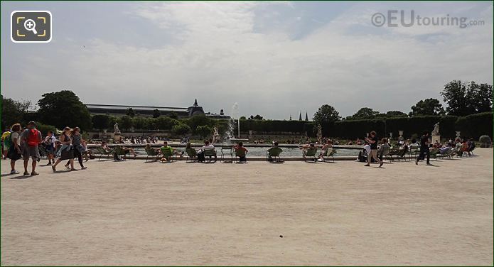 Grand Bassin Rond Grand Carre Area Jardin Des Tuileries